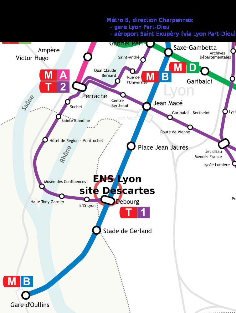 Plan transports ENS Lyon