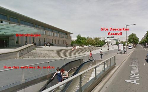 Venir au site Descartes - 2
